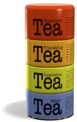 stacking tea tins