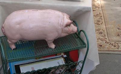 piggy bank at Paris flea market