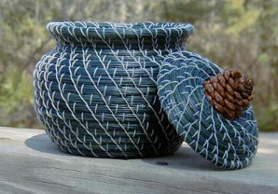 blue pine needle basket