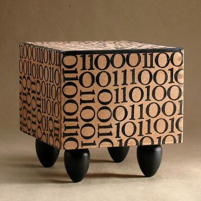 box with zeros and ones