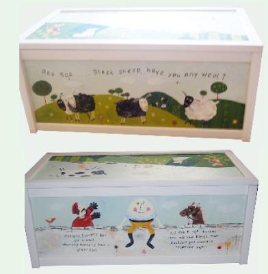 nursery rhyme design hand painted toy box