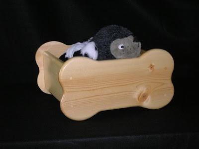 bone-shaped wooden pet toy box
