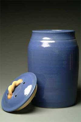 blue compost crock