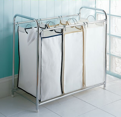 triple laundry sorter