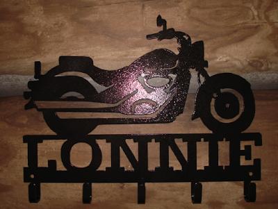 key rack, motorcycle shape