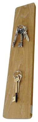 magnetic key rack, oak