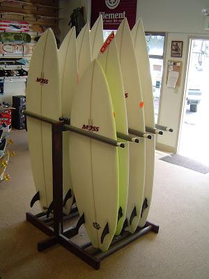 free-standing surfboard racks