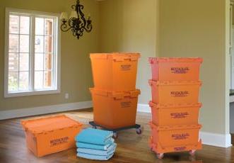 rented plastic moving crates