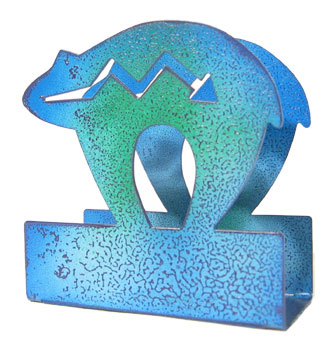 blue bear metal napkin holder