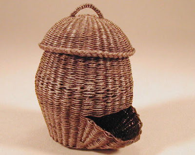 dollhouse miniature potato basket