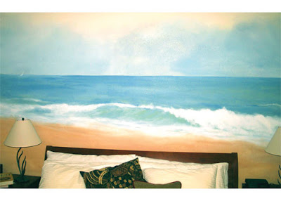 mural over bed