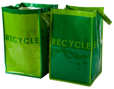 two recycle bags
