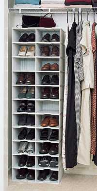 shoe organizer in closet