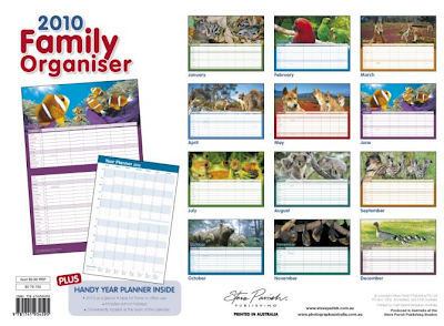 Steve Parish family organiser calendar
