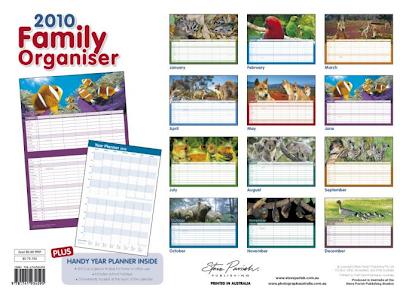 Steve Parish family organiser calendar