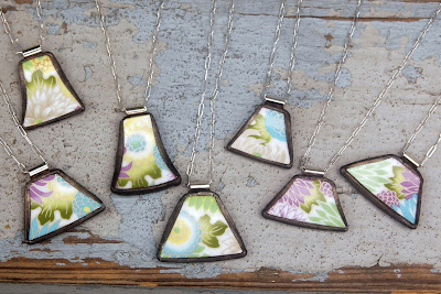 broken china pendants