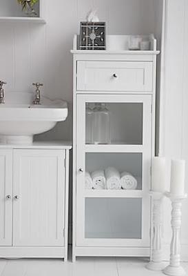 bathroom cabinet, white