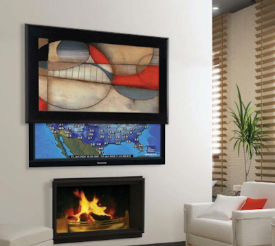 art hides wall-mounted TV