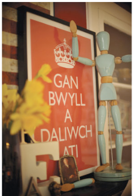 Keep Calm and Carry On poster - in Welsh