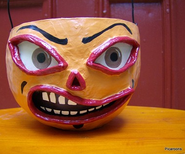 paper mache pumpkin bucket