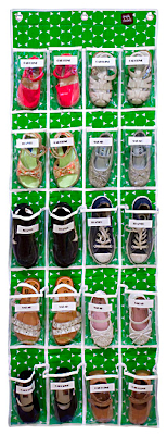 over the door shoe organizer with pockets