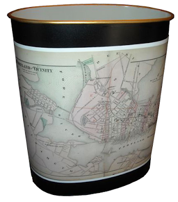 vintage-style wastebasket
