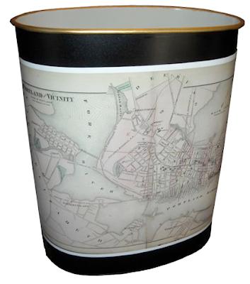 vintage-style wastebasket
