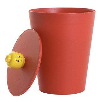 Lego head wastebasket