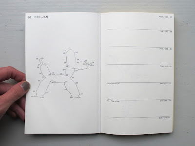 diary with connect-the-dots puzzle