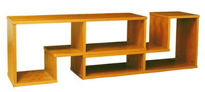 low bookshelf, teak