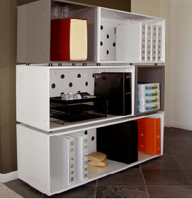 steel modular shelving storage