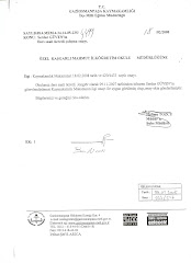 kurumlardan onay ve sertifikalarımız