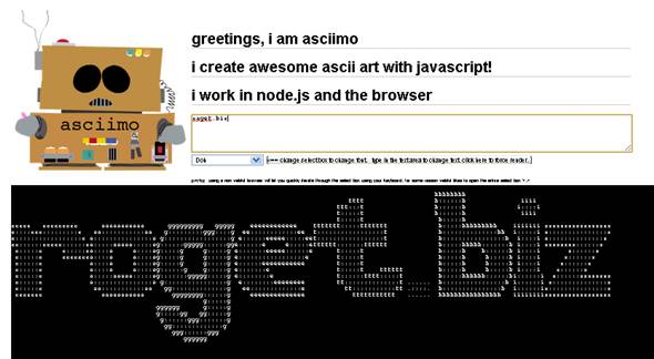 texte en code ascii