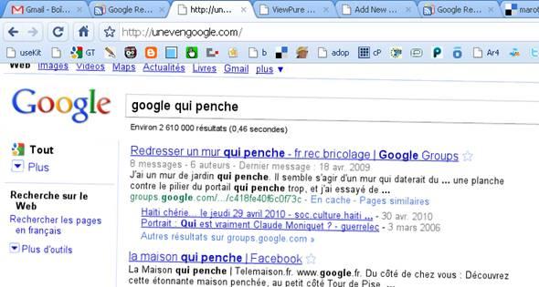 google qui penche
