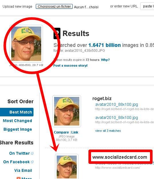 recherche de sosie ou photo similaire sur le net