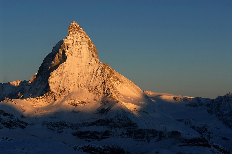 Beautiful mountain in the world mount matterhorn alpine mountains