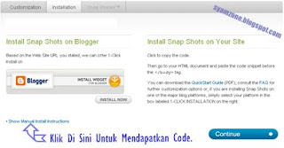 Snapshots Percuma Untuk Blogspot