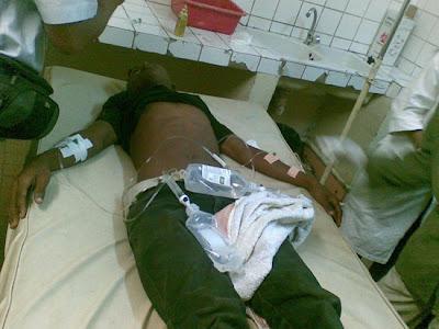Un blessé sous le choc à la HJRA