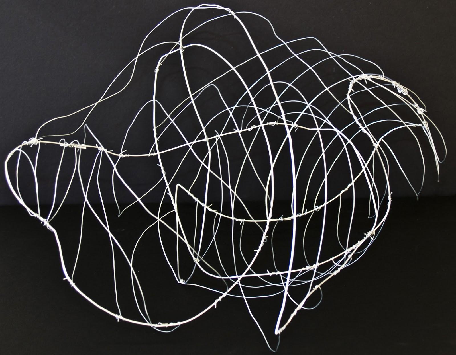Digital Portfolio: Abstract Wire Sculpture