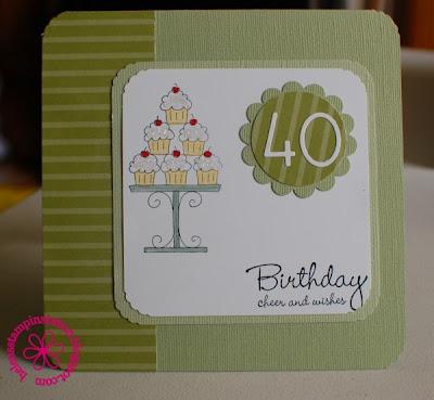 40th birthday cards. 40th Birthday card sampler