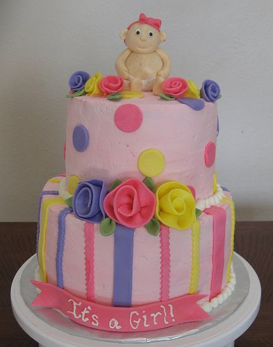 Baby Shower Cake Pictures Girls on Ms Cakes Baby Girl Shower Cake