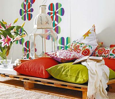 Balkon dekorasyonu, balkonlarınıza renk getirin, balkon modern ...