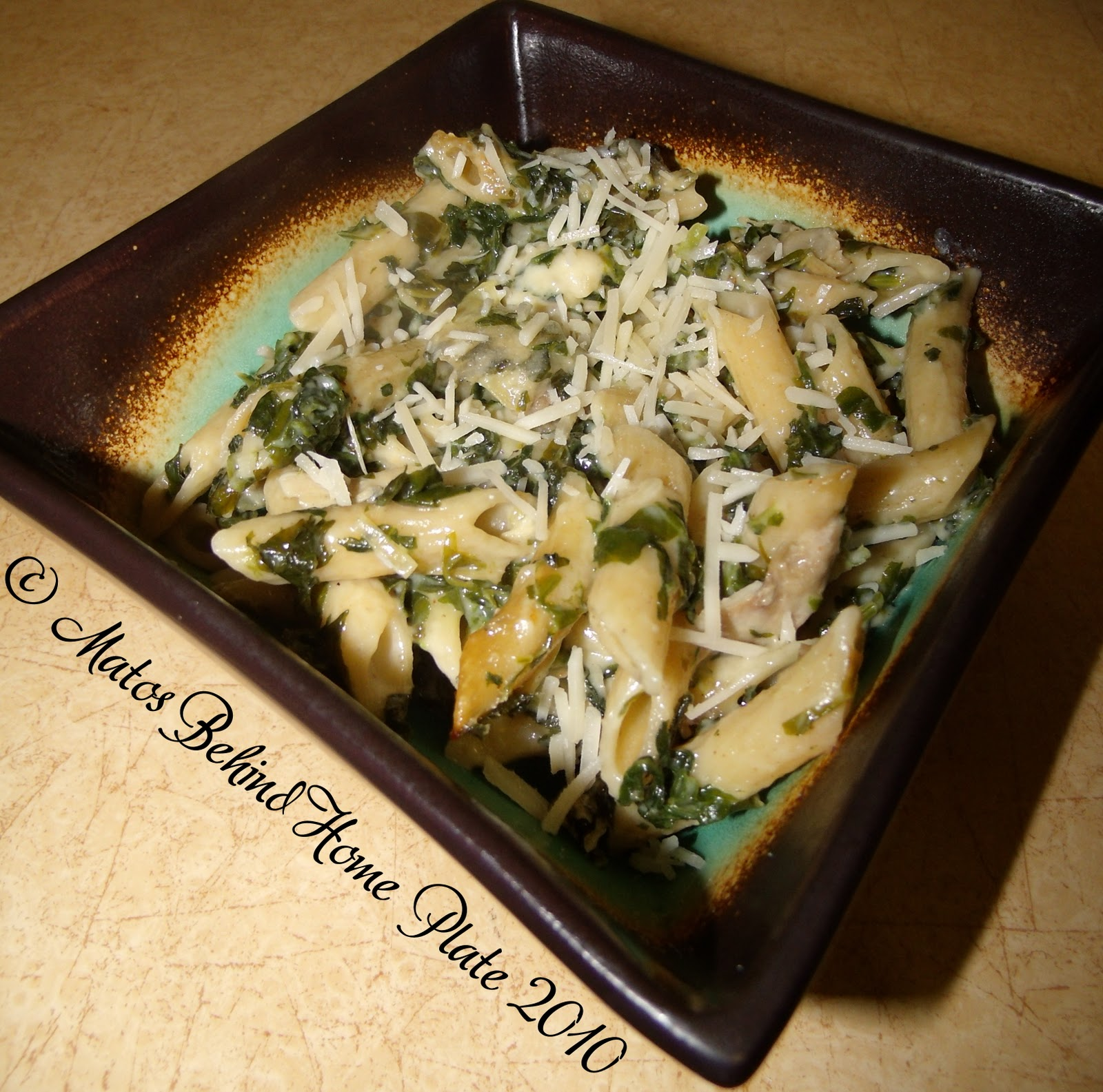 Matos Behind Home Plate: Spinach and Artichoke Baked Whole Grain Pasta