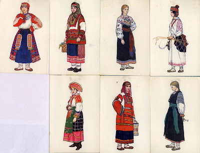 1950fashion Costume on This Final Set Depicts Costume From Central Russia