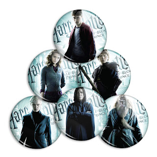 Harry Potter and the Half Blood Prince Pinback Buttons Complete Set