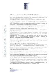 Dichiarazione di Marchionne sul referendum a Mirafiori
