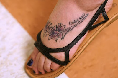 scripture tattoos on feet