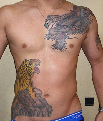 Extreme Stomach Tattoos For Men