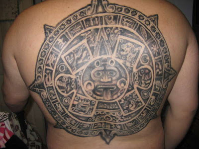 This is a tattoo that I designed for myself, it incorporates aztec, mayan