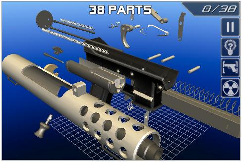 Free Iphone apps: Tec-9 Disassembly 3D